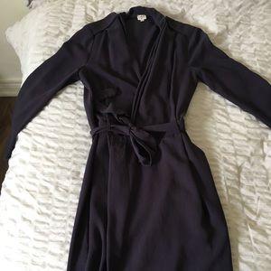 Dark Purple Wilfred Wrap Dress